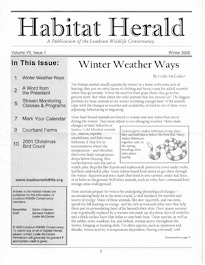 Habitat Herald Vol. 7, Issue 1