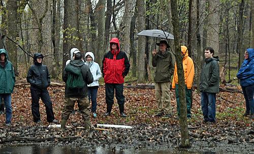 Field trip in the rain