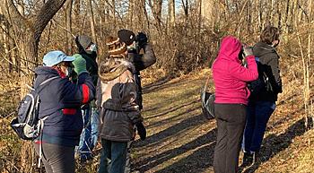 Birders at Banshee Reeks Nature Preserve