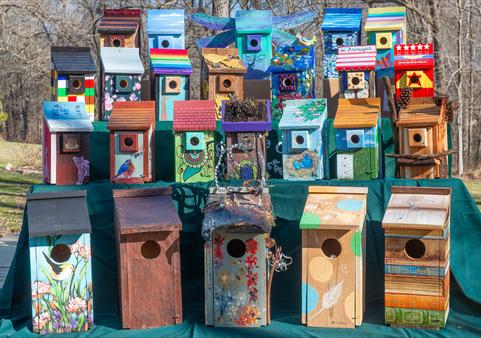 Birdhouses of Loudoun County display