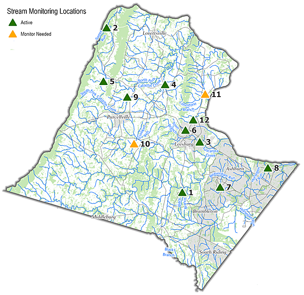 Stream Monitoring Sites Map