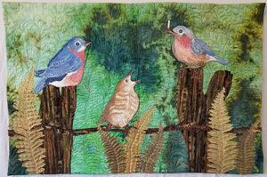 Blue Bird Art Quilt